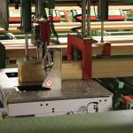 Maschine zur Bündelung von Schnittholz